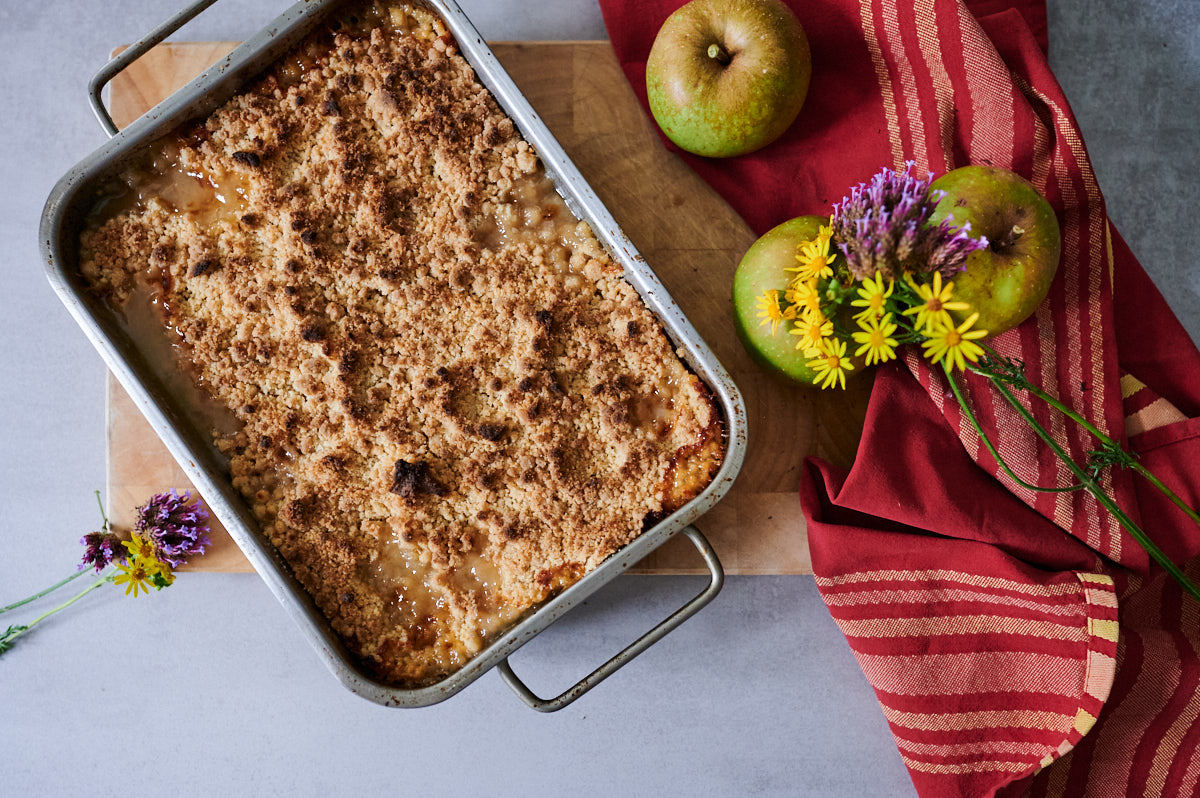 crumble banane-pomme