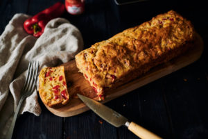 cake poivron et jambon de Bayonne