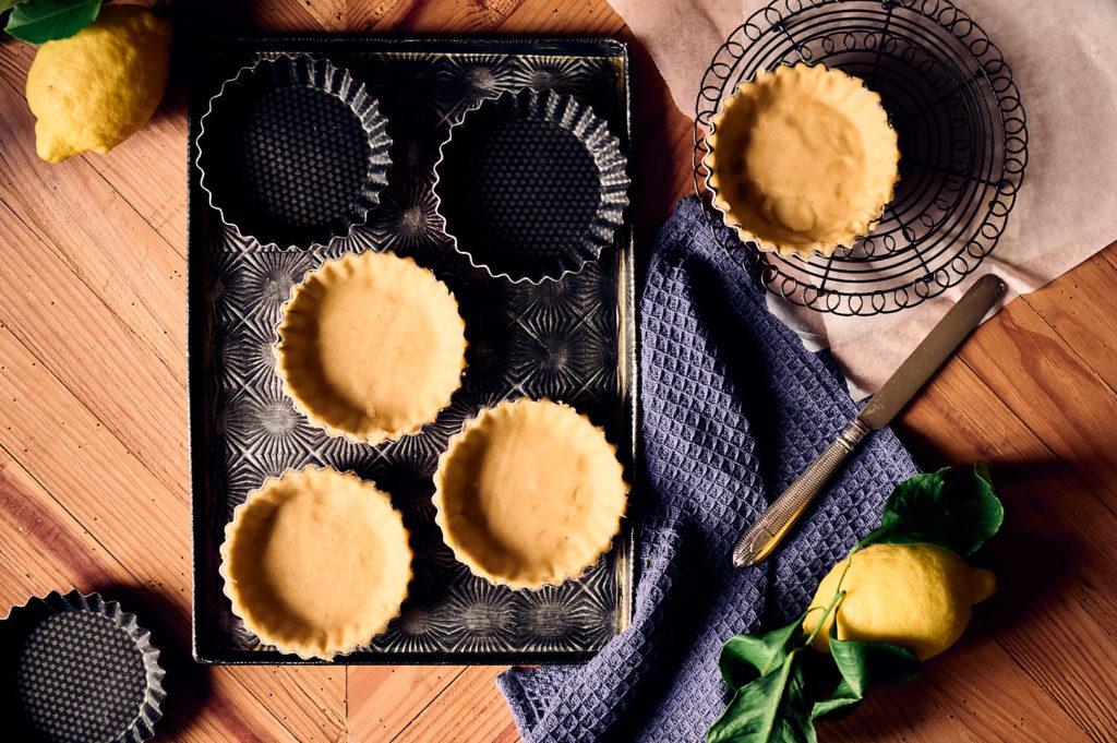 préparation tarte au citron bergamote