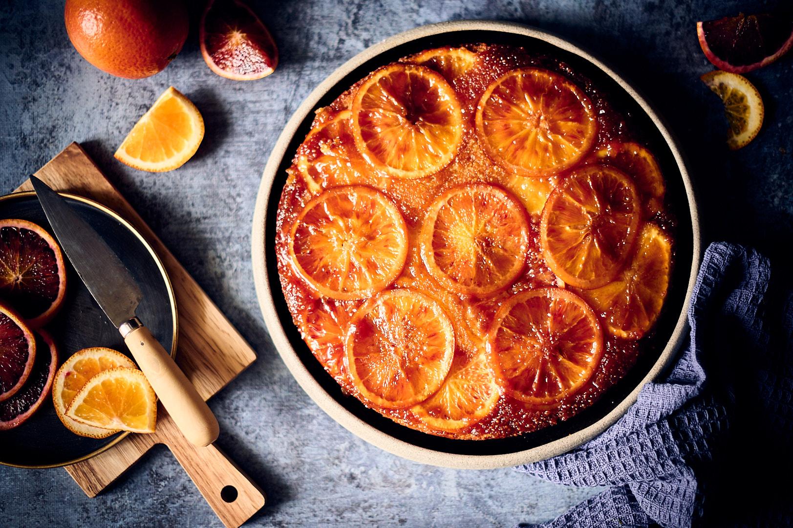 Gâteau renversé à l'orange sanguine