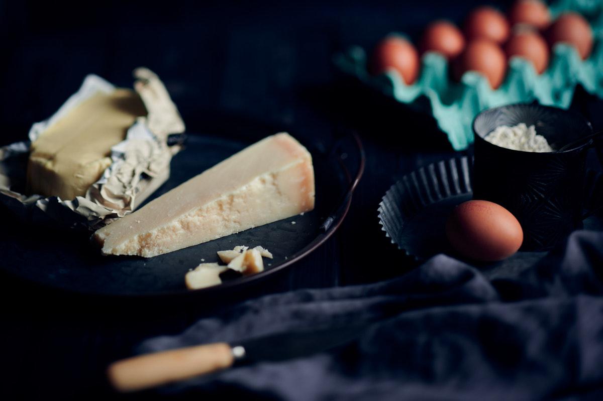Ingrédients sablés au Parmesan
