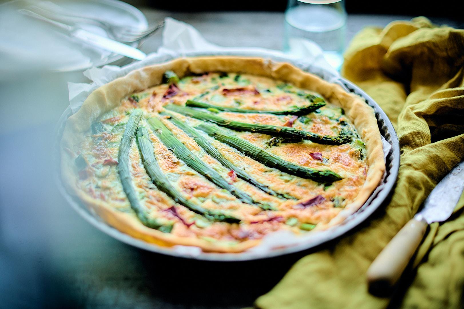 Tarte asperges & jambon Serrano
