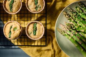 cake asperges vertes et crabe