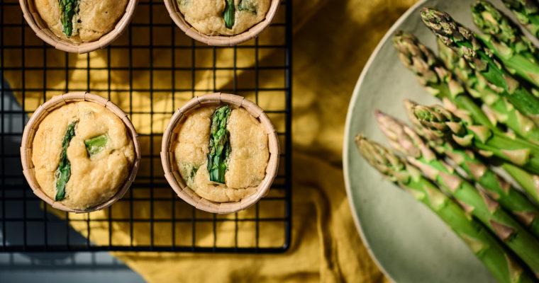 Minis Cakes Asperges vertes et Crabe