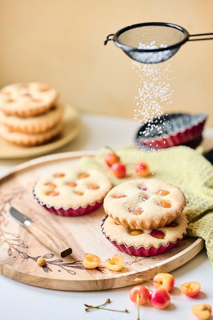 gâteaux rapides aux cerises