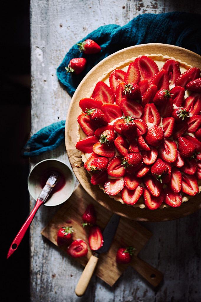 recette simple et parfumée de tarte aux fraises